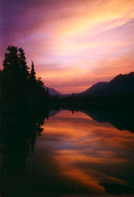 Dawn at Bench Lake on July...