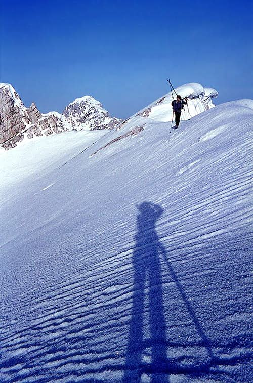 Just below the summit of Mala Mojstrovka