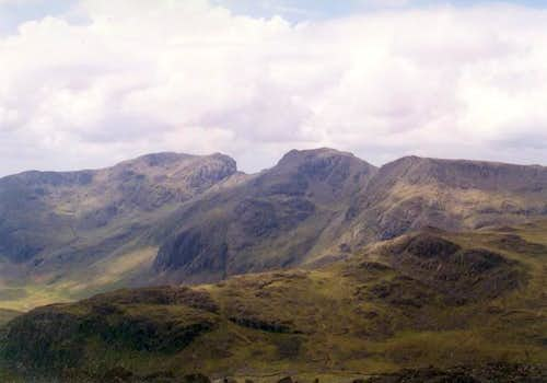 As seen from Bowfell to the...