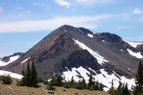 The NE ridge of Dicks Peak.