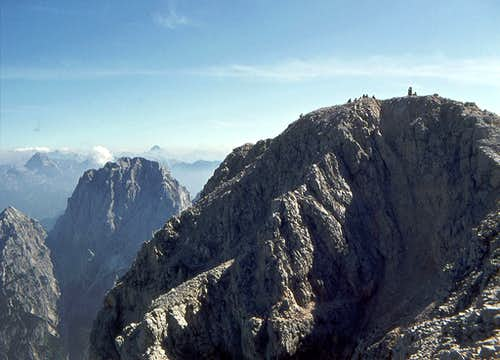 The summit of Montaz (left...