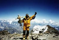 On the summit of Aconcagua....