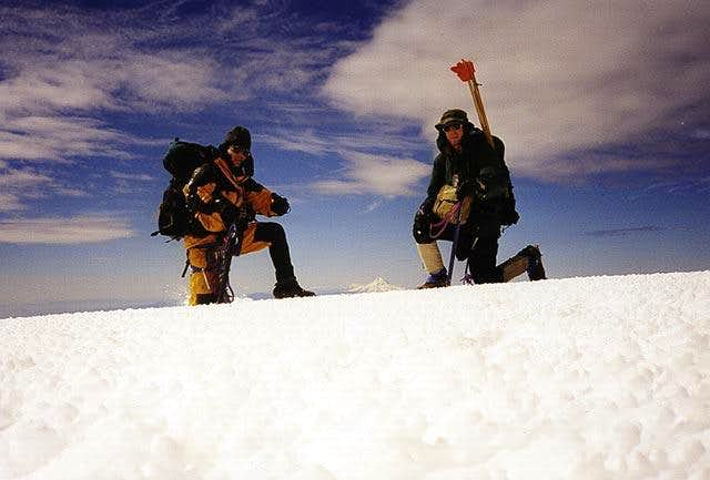 On the summit of Mt. Adams....