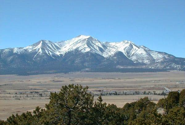 Mt Princeton from the scenic...