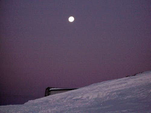 Moon On Mount Hood