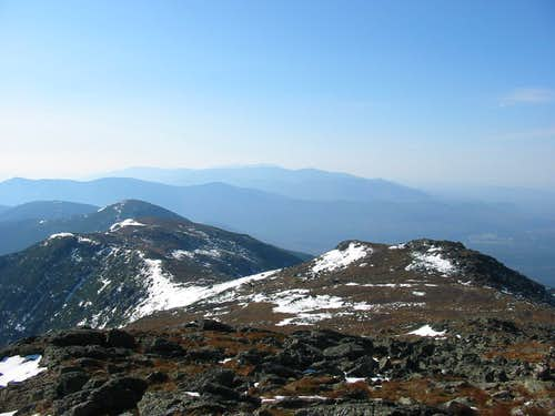 Looking down at the Southern Presidentials from Monroe Summit