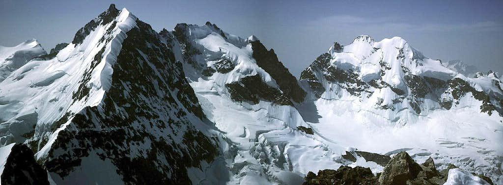 Bernina Group central range from N