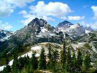 Corteo Peak to the left and...