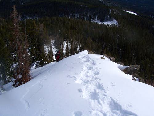 Climbing up to the ridge