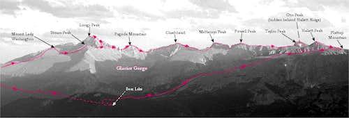 The Glacier Gorge Traverse, Rocky Mountain National Park, Colorado