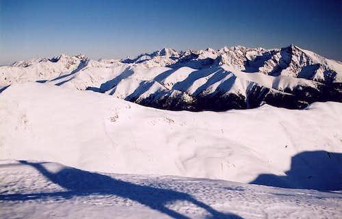 High Tatras from Bystra(2248)