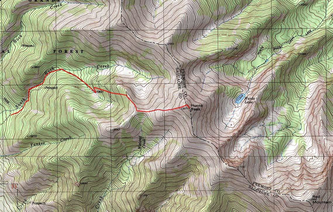Hunts' West Ridge route