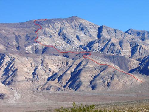 West Ridge from Panamint Valley