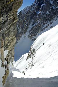 Skiing the Koven Couloir