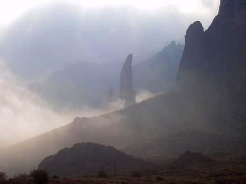 some mist around the hand