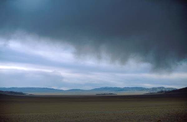 dark snow clouds