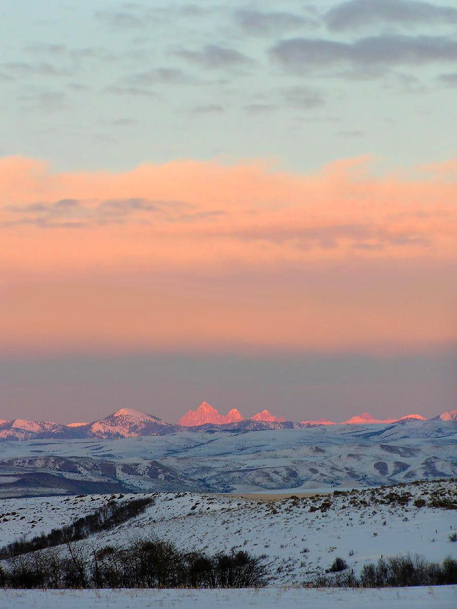 Teton Sunset Glow