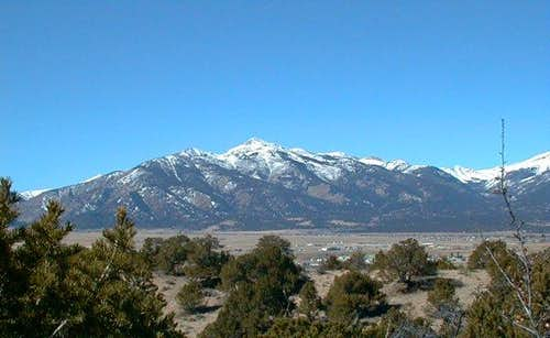 Mt Yale as seen from the...