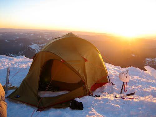 Camping Above Palmer Glacier