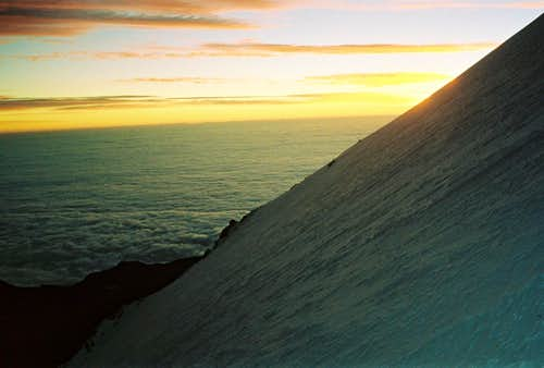Sunrise on Pico de Orizaba
