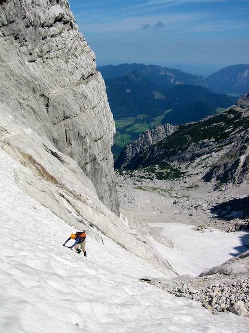 Ascending the Blaueis Glacier