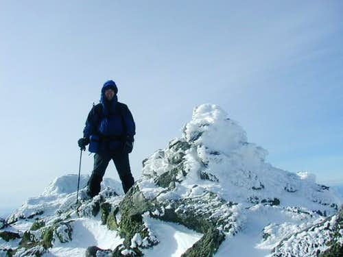 Hikerdave on summit of Mt....