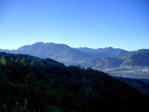 View to some of Bjelasica´s ridges from NW, above Mojkovac.