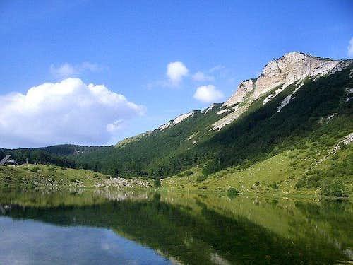 Sator Lake on Sator mountain