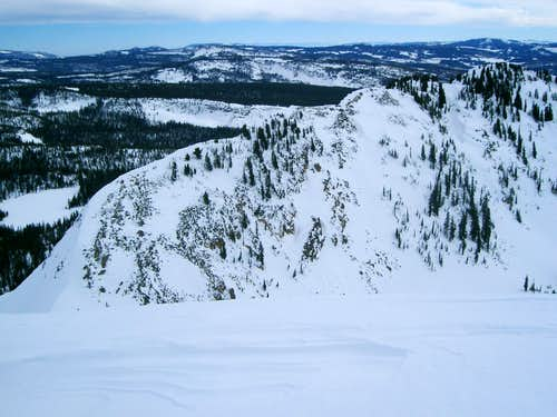 Upper Norway Ridge - view from the summit of Wall