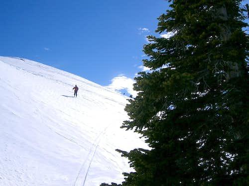 Descending lower West slopes of Wall