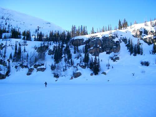 Shortcut through the cliffs to Big Elk Lake