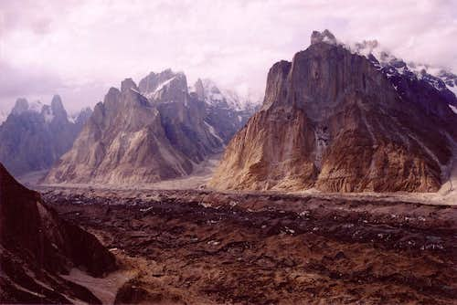 Trango and Cathedral towers