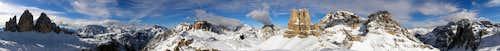 View from Sasso di Sesto/Sextner Stein, Dolomites, South Tyrol, Italy