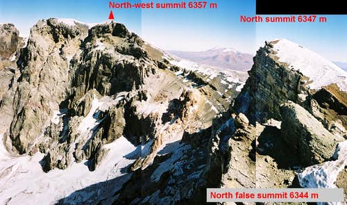 Real summit from north false summit