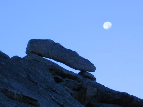 Balanced rocks by moonlight