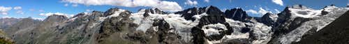 Mountains and glaciers of Valnontey from Leonessa Bivouac, Gran Paradiso GROUP