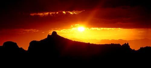 Silhouette Sunset at Thimble Peak
