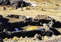 Base Camp for the Condoriri...