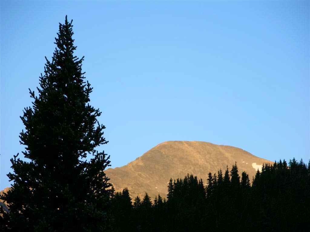 Grays Peak from Stevens Gulch Trailhead