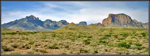 Chisos Mtns from the Green Gulch Road