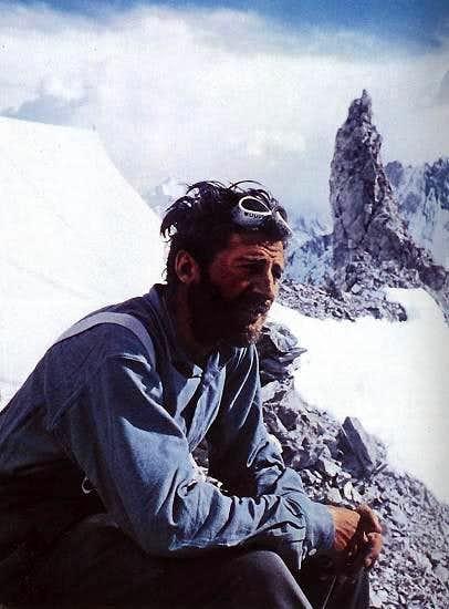Hermann Buhl on Broad Peak
