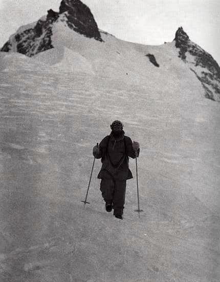 Hermann Buhl descending Nanga Parbat