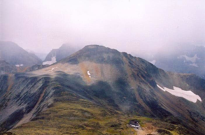 8,220-ft Dot Mountain as seen...