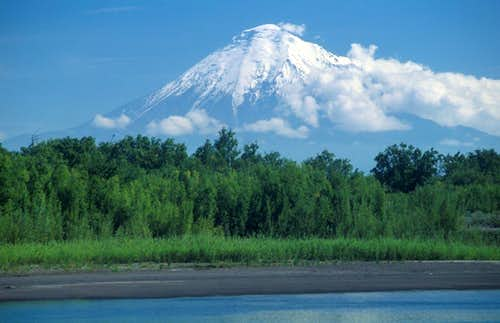Tolbachik and Kamchatka River