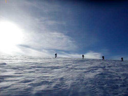 Ski mountaineering on the Wapta Icefields
