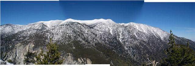 Panorama of San Gorgonio...