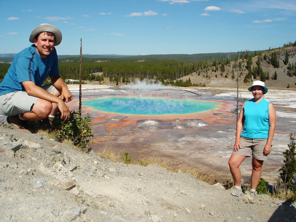 Julie and I at Grand Prismatic Pool