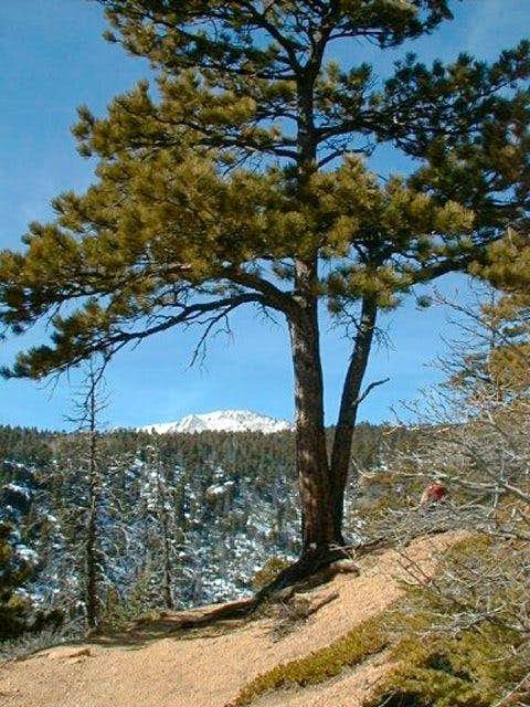 First glimpse of Pikes Peak...