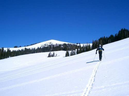Currant Creek Peak in winter