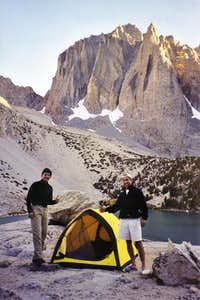 Camp near third lake with...
